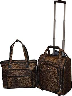 Kemyer 16 Inch Wheeled Underseater Carry-On & Laptop Tote Se