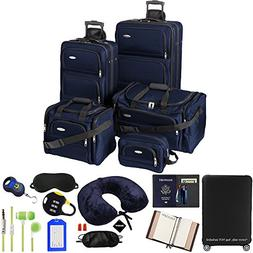 Samsonite  5-Piece Nested Luggage Set, Navy w/Luggage Access