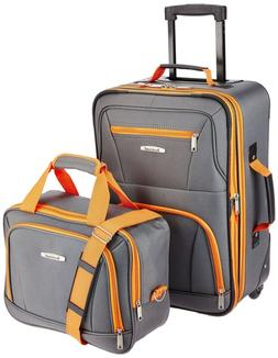 19 inch Roller Suitcase 2 Piece Luggage Set Includes Carry o