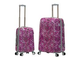 2 pc polycarbonate abs upright luggage set
