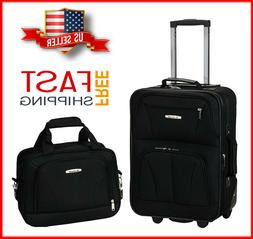 2 Pcs Traveler Carry-on Rolling Luggage Suitcase Tote Bag Se