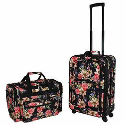 World Traveler 2-Piece Carry-On Expandable Spinner Luggage S
