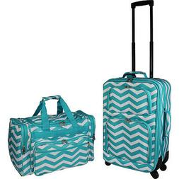 World Traveler 2 Piece Carry-On Expandable Spinner Luggage S