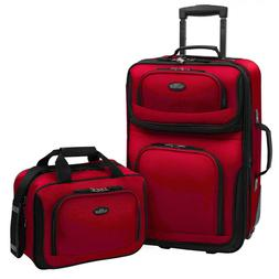U.S. Traveler Rio 2-Piece Carry-On Luggage Set 21 inch Expan