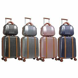 World Traveler 2-Piece Classique Hardside Carry On Spinner L