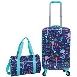 "2 Piece Kids Luggage Travel Set 18"" Upright Spinner & Bag -"