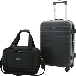 Wrangler Wrangler 2 Piece Rolling Expandable Carry-On Luggag