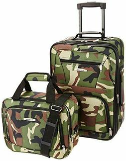2 Piece Set Rolling Wheel Luggage Travel Luggage Suitcase Ba