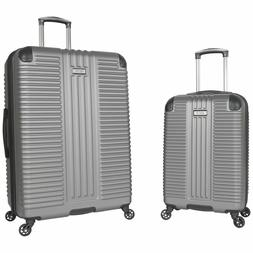 Kenneth Cole Reaction 2 Piece Silver  Hardside Luggage Set