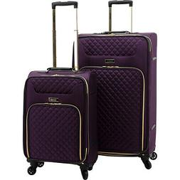 Kensie Luggage 2-Piece Twill Softside Expandable Luggage Set