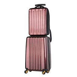 DFAVORS 2 Pieces Hardside Luggage Set 20inch Luggage 15inch