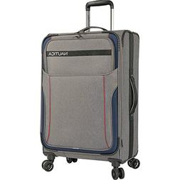 """Nautica 24"""" Expandable Spinner Luggage, Light Grey/Navy"""