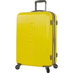 "Nautica 24"" Hardside Expandable Spinner Luggage, Yellow/Grey"