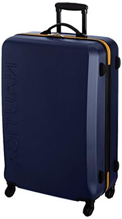 "Nautica 28"" Hardside Expandable Spinner Luggage, Navy/Yellow"
