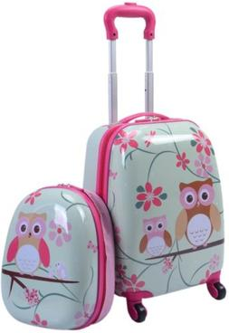 2Pc 12 16 In Kids Luggage Set Suitcase Backpack School Trave