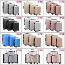 3/ 4 Pcs Luggage Set Travel Bag ABS Trolley Spinner Carry On