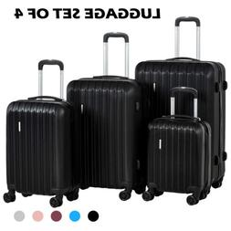 3/4Pcs ABS Trolley Carry On Travel Luggage Set Bag Spinner S