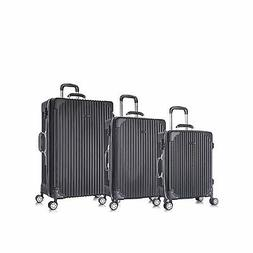 3 PC Luggage Set Durable Phone Charge Feature Suitecase LUG3
