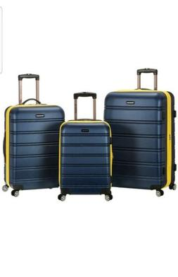 Rockland 3 PC Melbourne Spinner Travel Storage Lightweight H