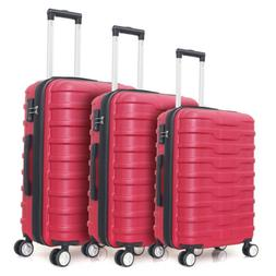 3 Piece Luggage Set Expandable Hardside ABS w/Spinner Wheels