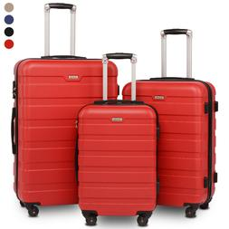 BAHOM 3 Pcs Luggage Sets with Spinner Wheels, TSA Suitcase S