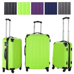 3 Pcs Luggage Travel Carry on Bag ABS Trolley Spinner Wheels
