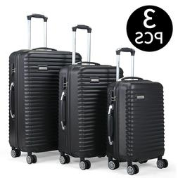 "3 PCS Set Luggage Travel Bag Carry on Trolley Suitcase 22"" 2"