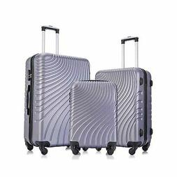 3 piece abs luggage sets with spinner