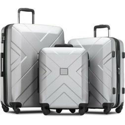 3 Piece Hardside Expanable Luggage Sets with Spinner Wheels