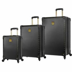 3 piece hardside spinner luggage set black