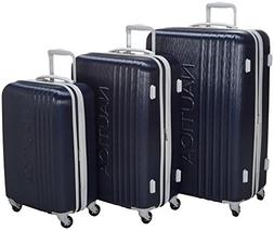 Nautica 3 Piece Hardside Spinner Luggage Set, Classic Navy