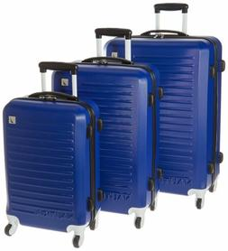 Nautica 3 Piece Hardside Spinner Luggage Set, Cobalt Blue