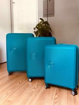 American Tourister 3 piece Hardside Spinner Set~ dimensions