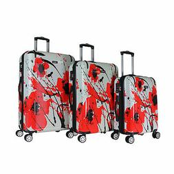 Kemyer 3-Piece Lightweight Hardside Spinner Luggage Set with