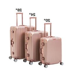 3 Piece Luggage Set Spinner Travel Bag Carry On Suitcase wit