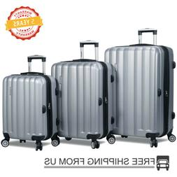 3 Piece Luggage Set Travel Carry on Luggage Expandable Light