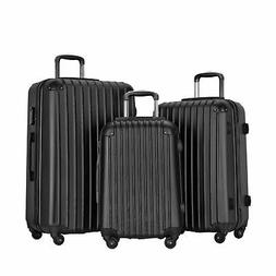 Resena 3 Piece Luggage Sets with Spinner Wheels, Travel Carr