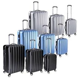 3 Piece Luggage Travel Set Bag ABS Trolley Rolling Wheels Su