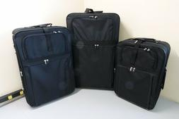 3 Piece Soft Sided Luggage Set travel suitcase telescoping h