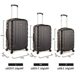 3 Piece Spinner Luggage ABS Lightweight Wheeled Suitcase Set