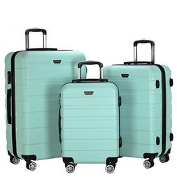 3 Piece Travel Carry on Luggage Set ABS Spinner Wheel Trolle