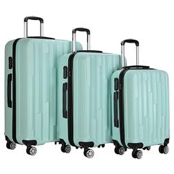 3 Piece Travel Luggage Sets Spinner Wheel Suitcase Carry on
