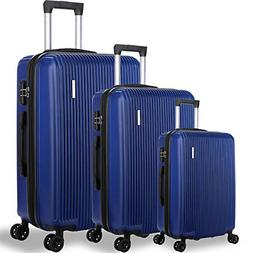 DFAVORS 3 Pieces Expandable Luggage Sets ABS Hardside Spinn