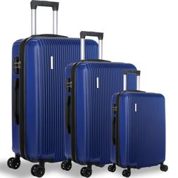 DFAVORS 3 Pieces Expandable Luggage Sets ABS Hardside Spinne