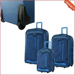 3 Pieces Columbia Luggage Set w Push-Button Locking Feature