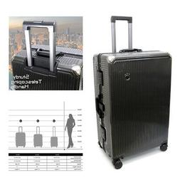 3-Pieces Set  Carbon Mesh Spinner Hardshell Carry-on Luggage