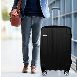 NEW Luggage Set Cabin Suitcase Carry On BLACK ABS Spinner Li