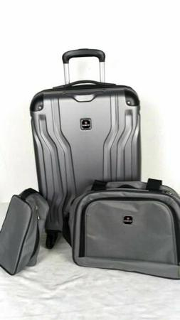 $300 New TAG Legacy 20'' Carry On 3 Piece Hard-case Luggage