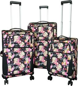 3Pc Luggage Set Travel Bag Rolling 4Wheel CarryOn Expandable