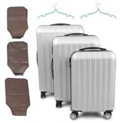 3PC Travel Luggage Set ABS Bag Trolley Spinner Business Suit
